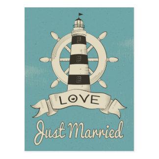 Seegerade verheirateter postkarte