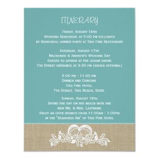 Seegirlanden-Strand-Hochzeits-Route 10,8 X 14 Cm Einladungskarte