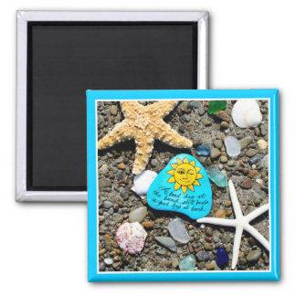 Seeglas, Strandglaskunst, die lustigen Magneten Quadratischer Magnet