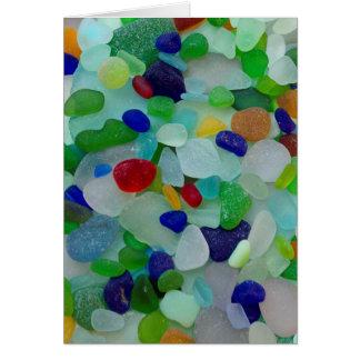 Seeglas, Strandglaskunst-Foto-Grußkarte Karte