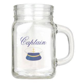 Seeglas-Tasse kapitän-Maurer mit Hat Kapitäns Einmachglas