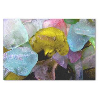 Seeglas vom Bering-Seeseidenpapier Seidenpapier