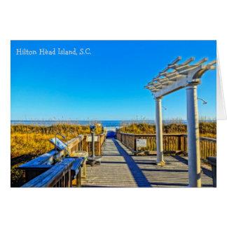 Seehafer und -brandung! Hilton Head Island Sc Karte