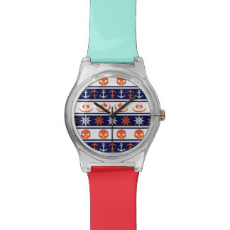 Seehalloween-Muster Uhr
