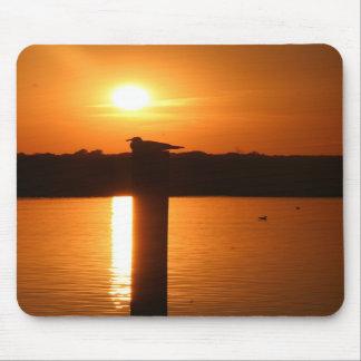 Seeinsel-Stadt-Sonnenuntergang Mousepad