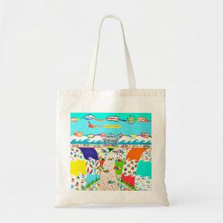 Seeinsel-Stadt-Taschen-Tasche