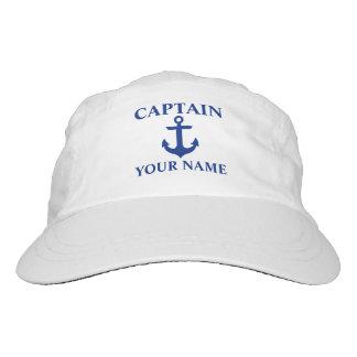 Seekapitän Name Anchor Headsweats Kappe
