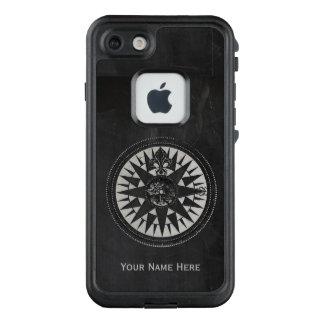 Seekompaß auf schwarzer Tafel LifeProof FRÄ' iPhone 7 Hülle