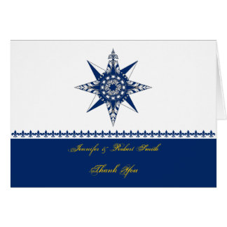 Seekompass-Rosen-Marine-Gelb danken Ihnen Karte
