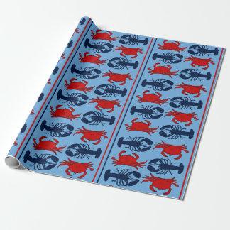 Seekrabben und Hummer-Meeresfrüchte-Geschenk Geschenkpapier
