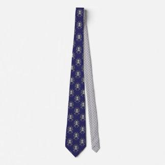 Seekraken-blaues Grau-Tupfen-Illustration Krawatte