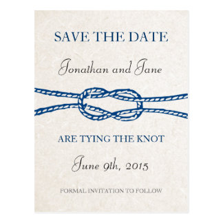 SeeKrawatte der Knoten, der Save the Date (Grau, Postkarte