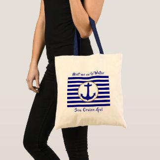 Seekreuzfahrt-Seeanker Stripes Taschen-Tasche Tragetasche