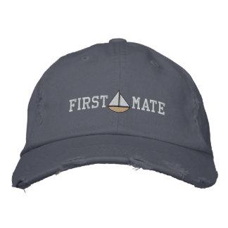 Seemann-erster Kamerad-gestickter Hut