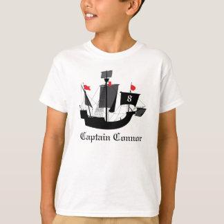 Seemann-Piraten-Jungen-Geburtstags-T-Shirt T-Shirt
