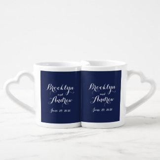 Seemarine-Blau-Hochzeits-Geschenke - die Paartassen
