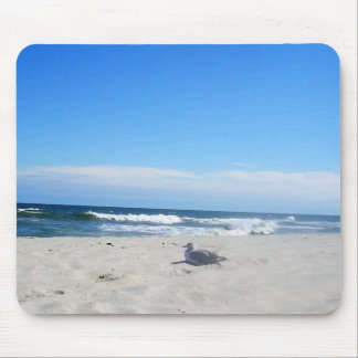 Seemöwe auf dem Strand-Jersey-Ufer-Ozean Mousepads