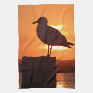 Seemöwe-Sonnenuntergang Handtuch