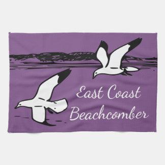 Seemöwe-Strand-Ostküstebeachcomber-Geschirrtuch Geschirrtuch