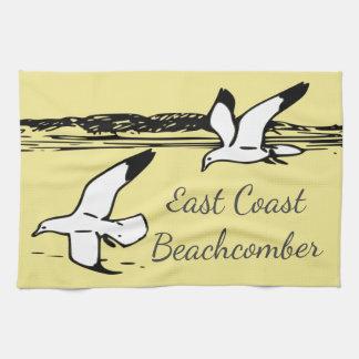 Seemöwe-Strand-Ostküstebeachcomber-Geschirrtuch Handtuch