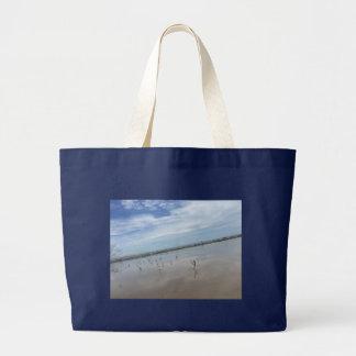 Seemöwe-Strand-Tasche Jumbo Stoffbeutel