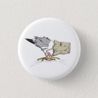 Seemöwe versagen lustige Vogel-Illustration des Runder Button 3,2 Cm