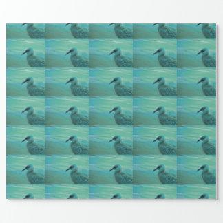 Seemöwe-Vogel auf dem Strand-Packpapier Einpackpapier