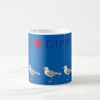 Seemöwen auf einem blauen Hintergrund - Capri Tasse