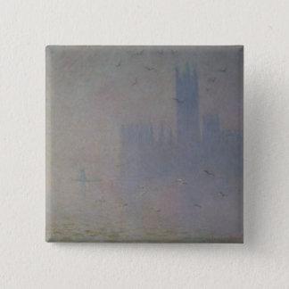 Seemöwen Claude Monets | über Häusern des Quadratischer Button 5,1 Cm
