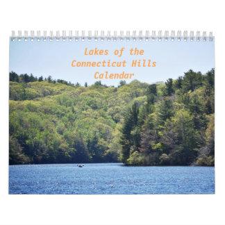 Seen des Connecticut-Hügel-Kalenders Abreißkalender