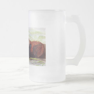 Seeotter-Tasse Mattglas Bierglas