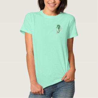 Seepferd Besticktes T-Shirt