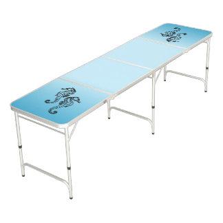 Seepferd-Blau Beer Pong Tisch