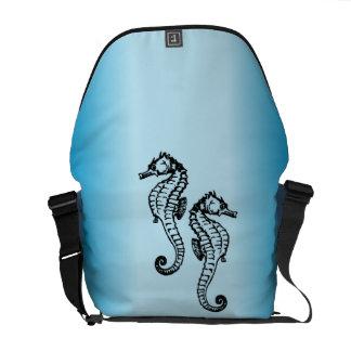 Seepferd-Blau Kurier Taschen
