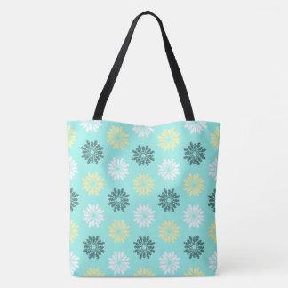 Seepferd-Blumen-Aqua-Taschen-Tasche Tasche
