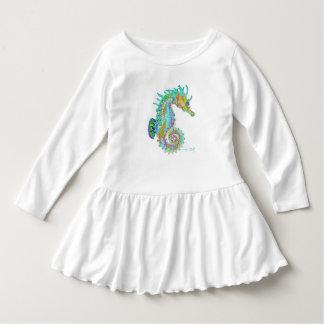 Seepferd-Kleinkind-Rüsche-Kleid Kleid