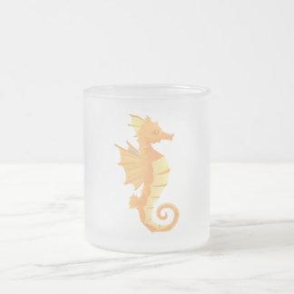 Seepferd-mattierte Kaffee-Tee-Tasse 10 Unze Mattglastasse