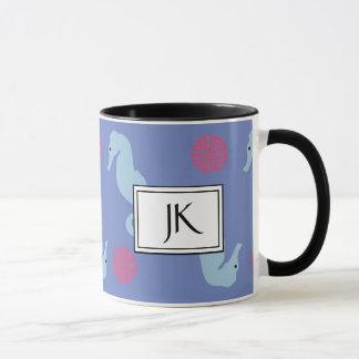 Seepferd-ozeanische Textilkaffee-Tasse Tasse