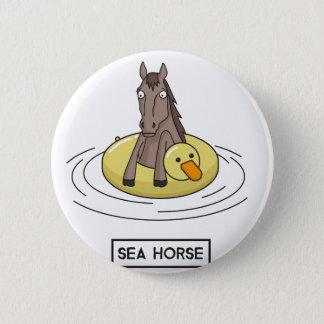 Seepferd Runder Button 5,7 Cm