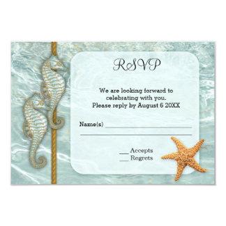 Seepferd-Seehochzeits-Einschließung UAWG Karte 8,9 X 12,7 Cm Einladungskarte