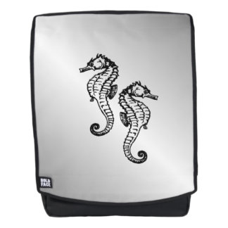 Seepferd-Silber Rucksack