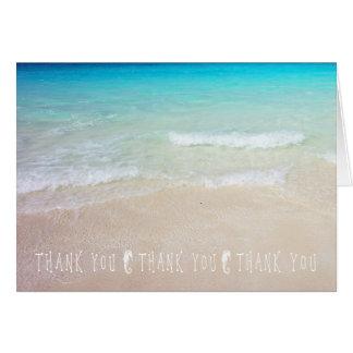 Seepferd-tropischer Ozean danken Ihnen Mitteilungskarte