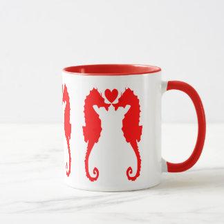 Seepferd und Herz Tasse