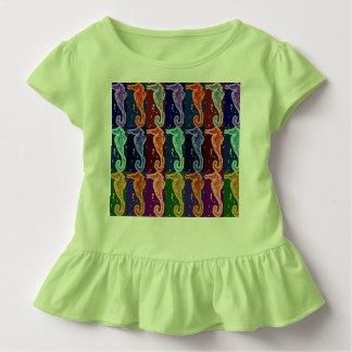 Seepferde auf Grün Kleinkind T-shirt