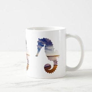 Seepferde mit Strand-Hintergrund Kaffeetasse