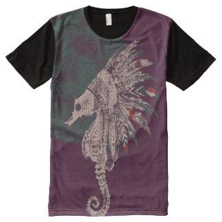 Seepferdeingeborennacht T-Shirt Mit Bedruckbarer Vorderseite