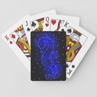 SeepferdeSchwimmen in den Lichtern Pokerkarte