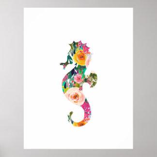 Seepferdseewanddruck-Kinderzimmerkunst Poster