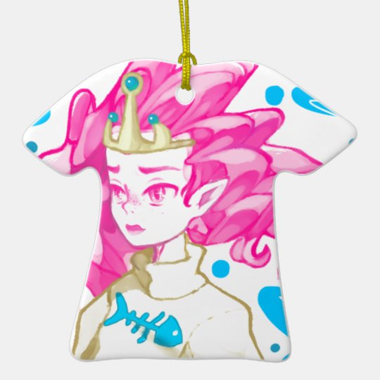 Seeprinzessin Keramik T-Shirt-Ornament