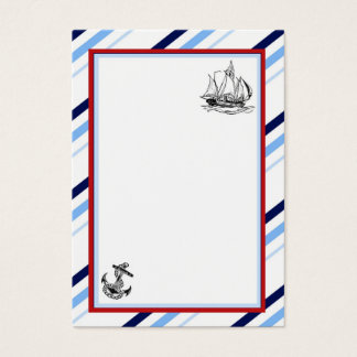 Seeschiffs-u. Anker-Visitenkarte Visitenkarte